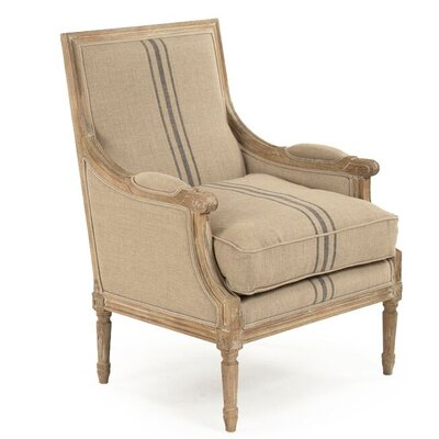 Bodil Armchair Upholstery: Blue Stripe
