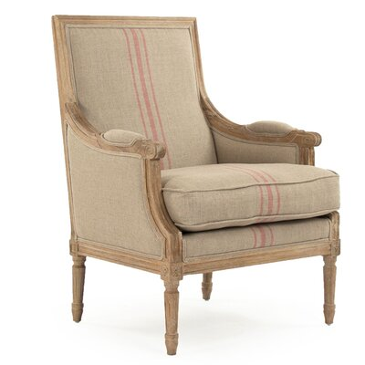 Bodil Armchair Upholstery: Red Stripe