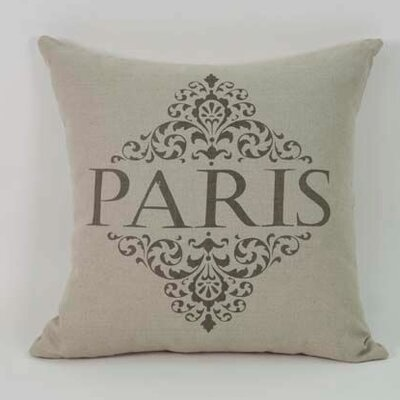 Gittan Paris Linen Throw Pillow