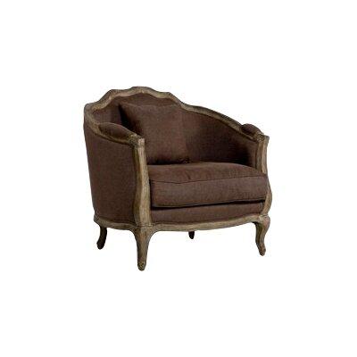 Maison Love Armchair Upholstery: Aubergine