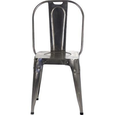 Side Chair Finish: Distressed Chrome