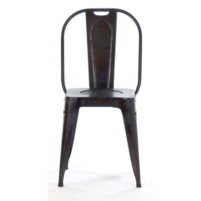Side Chair Finish: Distressed Black