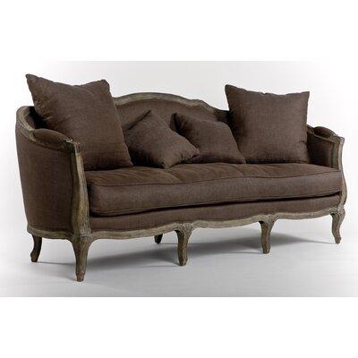 Maison Linen Sofa Upholstery: Aubergine Linen