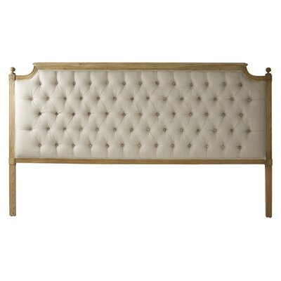Louis Upholstered Panel Headboard Size: King, Color: Ivory