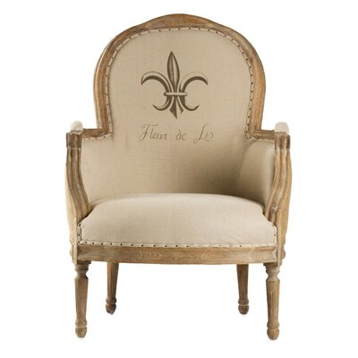 Lance Burlap Armchair