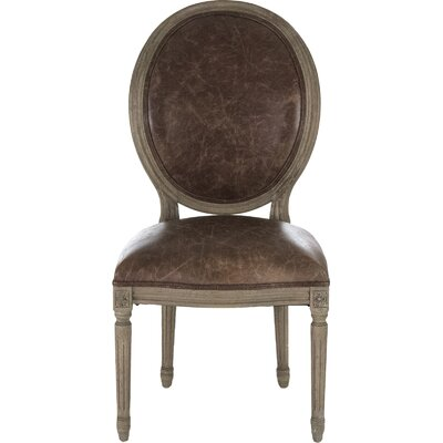 Arvidson Genuine Leather Upholstered Dining Chair
