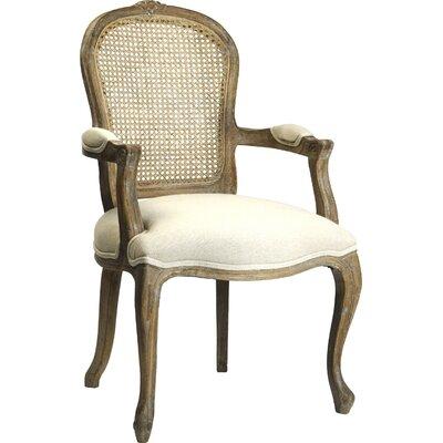 Lyon Armchair Upholstery: Limed Grey Oak