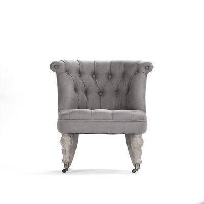 Amelie Slipper Chair Upholstery: Grey