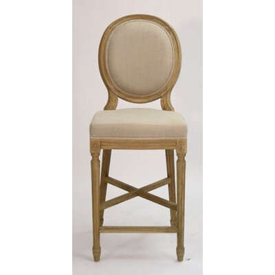 Medallion 25 Bar Stool Upholstery: Natural