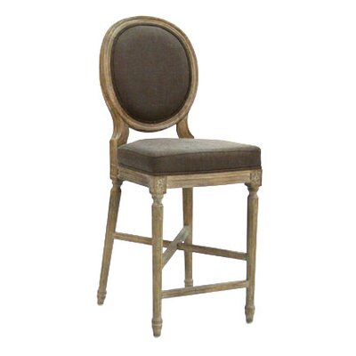 Medallion 25 Bar Stool Upholstery: Aubergine
