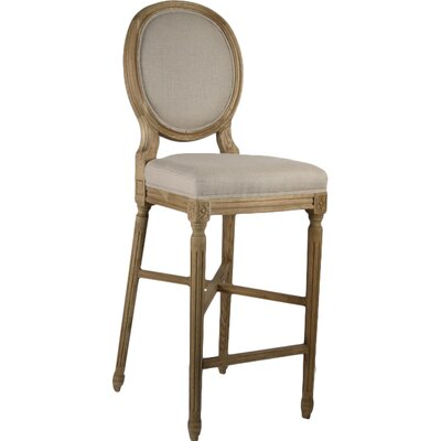 Arvidson 29.5 Bar Stool Upholstery: Natural