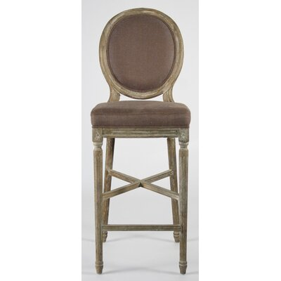 Medallion 29.5 Bar Stool Upholstery: Aubergine