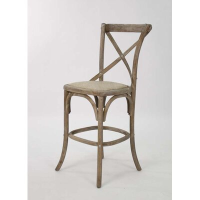 Parisienne Cafe 26 Bar Stool Finish: Limed Gray Oak