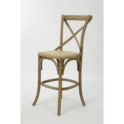 Parisienne Cafe 26 Bar Stool Finish: Natural Oak