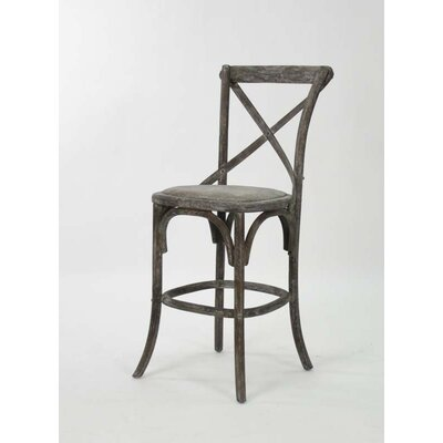 Parisienne Cafe 26 Bar Stool Finish: Limed Charcoal Oak