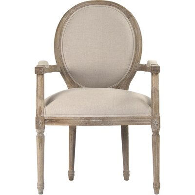 Medallion Armchair Upholstery: Natural
