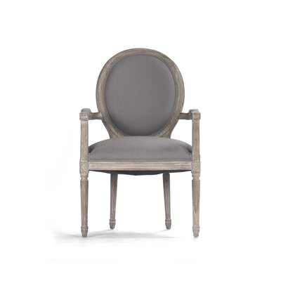 Medallion Armchair Upholstery: Grey