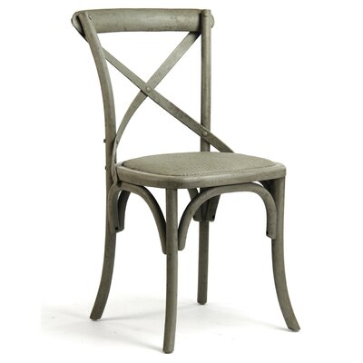 Parisienne Cafe Solid Wood Dining Chair Finish: Green