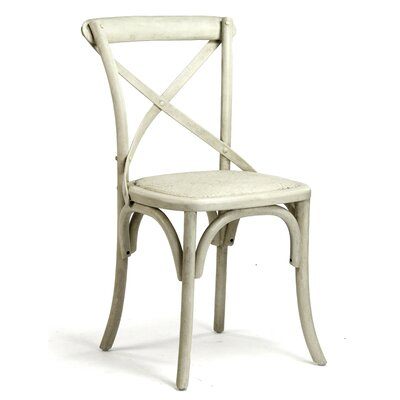 Parisienne Cafe Solid Wood Dining Chair Finish: Off White