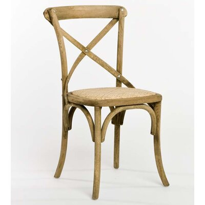 Parisienne Cafe Solid Wood Dining Chair Finish: Natural Oak