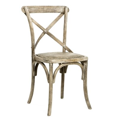 Parisienne Cafe Solid Wood Dining Chair Finish: Limed Gray Oak
