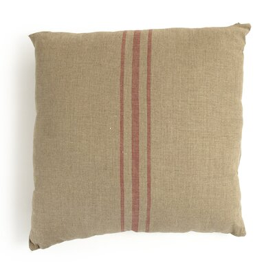 Red Stripe in the Linen Throw Pillow