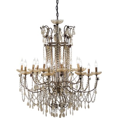 Lazzaro 16-Light Crystal Chandelier