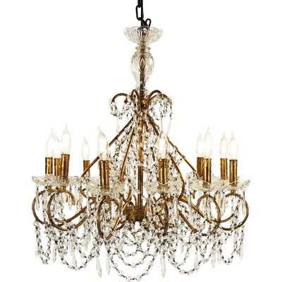 Fauna 12-Light Crystal Chandelier