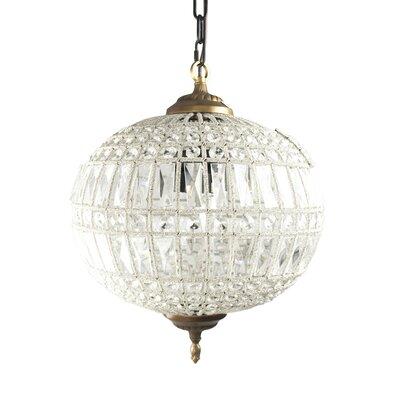 Dawn Globe Pendant Size: 14 H x 12.5 W x 12.5 D