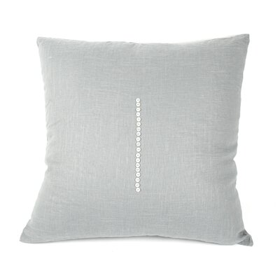 Linen Throw Pillow Size: 20 H x 20 W x 3 D, Color: Blue Gray