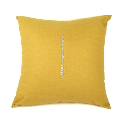 Linen Throw Pillow Size: 20 H x 20 W x 3 D, Color: Canary Yellow