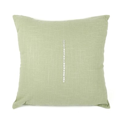 Linen Throw Pillow Size: 20 H x 20 W x 3 D, Color: Soft Green