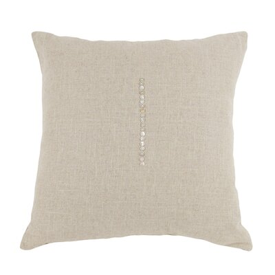 Linen Throw Pillow Size: 24 H x 24 W x 3 D, Color: Natural