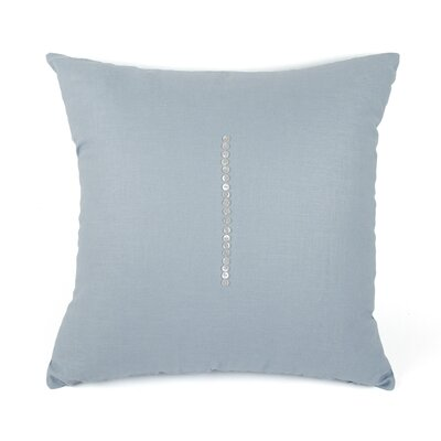 Linen Throw Pillow Size: 24 H x 24 W x 3 D, Color: Sky Blue