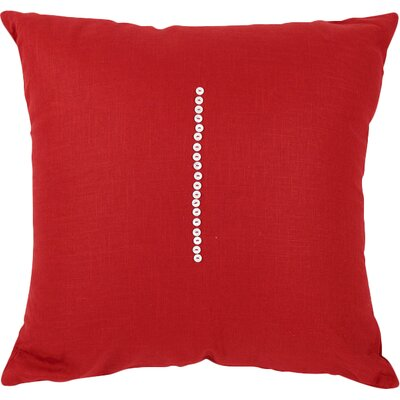 Linen Throw Pillow Size: 20 H x 20 W x 3 D, Color: Deep Red
