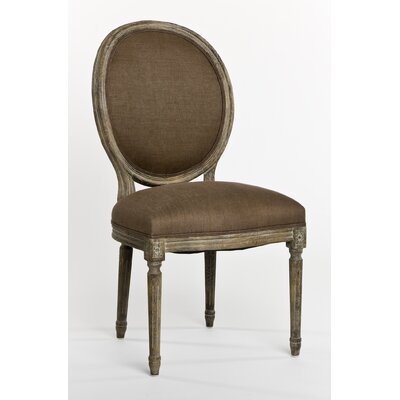 Arvidson Side Chair in Linen - Natural Finish: Limed Gray Oak, Upholstery Color: Natural Linen