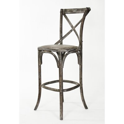Addre 30.25 Bar Stool Color: Limed Charcoal