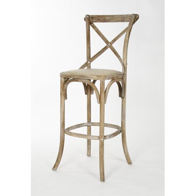 Addre 30.25 Bar Stool Color: Limed Gray