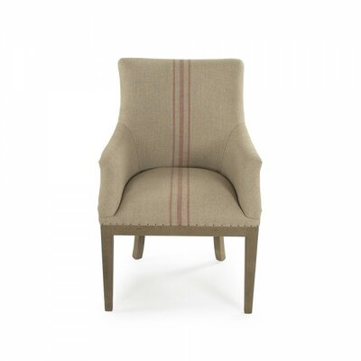 Lottie Deconstructed Armchair Upholstery: Red Stripe