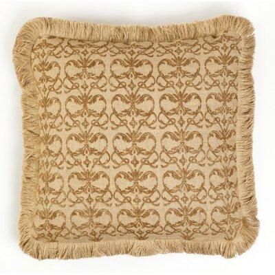 Jacia Damask Burlap Throw Pillow Color: Brown