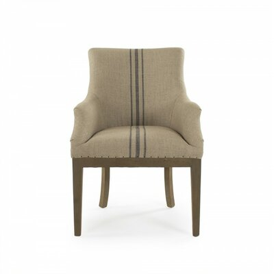 Lottie Deconstructed Armchair Upholstery: Blue Stripe
