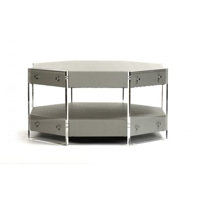 Renaissance Coffee Table Color: Gray Green