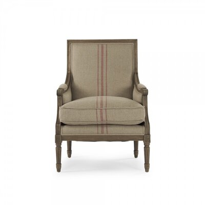 Arviso Armchair Upholstery: Red Stripe