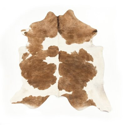 Dunneback Cowhide Brown/White Area Rug