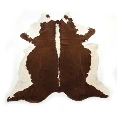 Dunneback Cowhide Hereford Area Rug
