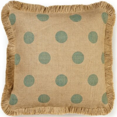 Ekta Dot Burlap Throw Pillow