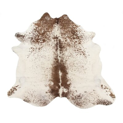 Dunneback Cowhide Salt Pepper Brown/White Area Rug