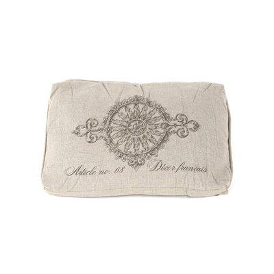 French Inspired Linen Lumbar Pillow