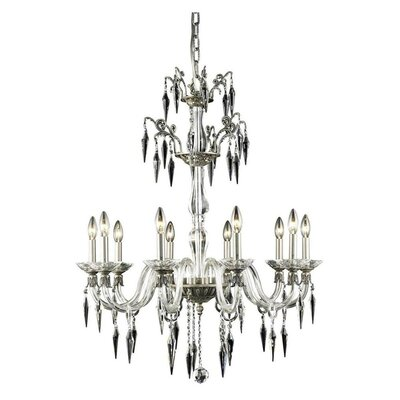 Grande 10-Light Candle-Style Chandelier Finish: French Gold