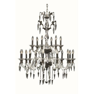 Shaina 18-Light Candle-Style Chandelier Finish: Pewter
